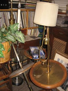 3 floor lamps and LPs 4-3-16