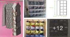 Aprende cómo hacer un organizador de tela para zapatos paso a paso Sewing, Fabric, Genital Herpes, Closet, Thimble, Recital, Window Curtains, Ideas Para, Purpose