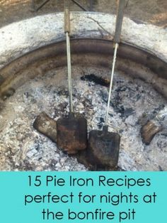 15 Pie Iron Recipes means summer fun is coming.  #bonfires #camping #recipes