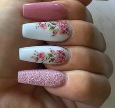 Nail art Christmas - the festive spirit on the nails. Over 70 creative ideas and tutorials - My Nails Hot Nails, Swag Nails, Pink Nails, Hair And Nails, Grunge Nails, Classy Nails, Stylish Nails, Best Acrylic Nails, Acrylic Nail Designs