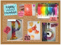 Use supplies found at home to create some fun pictures for your kid's room!