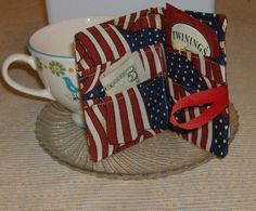Tea Wallet On The Go  Stars & Stripes Forever by AStitchinTime72, $8.00