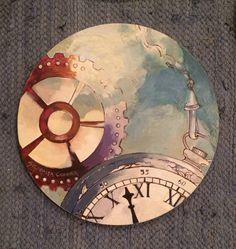 """""""Y si paramos el tiempo"""" 060 x 060  Óleo sobre madera"""