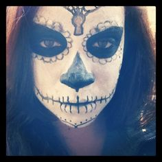 free time with my bff. Mexican skull