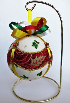 Christmas Ornament  Draped Holly by OrnamentDesigns on Etsy