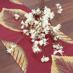 Foliage Table Runner in Claret