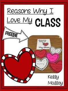 day for her valentineamp; Day preschool Valentines Day Freebie - Reasons Why I Love My Class Writing Activities, Classroom Activities, Classroom Teacher, Classroom Ideas, Classroom Window, Writing Lessons, Teacher Tools, Kindergarten Classroom, Teacher Stuff