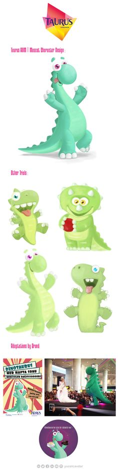 Dinotaurus   Character Design on Behance