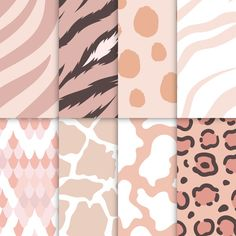 Set of seamless animal print pattern vectors Free Vector Geometric Background, Background Patterns, Vector Background, Print Wallpaper, Pattern Wallpaper, Rose Gold Texture, Neon Backgrounds, Colorful Animals, Blue Abstract