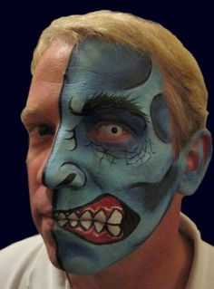 deviantART: More Like Two Face batman face paint by ~Bodypaintingbycatdot