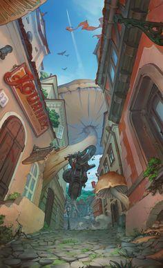 ArtStation - Oleg leshiy Shekhovtsov's submission on The Journey - 2D Environment Art Challenge