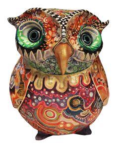 my recent work Paper Mache Sculpture, Sculptures, Beautiful Owl, Captain Hat, Artist, Paper Envelopes, Artists, Sculpture