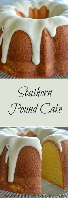Southern pound cake - Recipes, gardening, and life! Formerly Sugar Cookies to Peterbilts Köstliche Desserts, Delicious Desserts, Dessert Recipes, Plated Desserts, Food Cakes, Cupcake Cakes, Cupcakes, Southern Pound Cake, Bunt Cakes