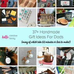 37+ Handmade Gift Ideas For Dads (many of which take 60 minutes or less to make!) From bbq, bacon and beer, to comics, woodwork and family fun. We have you covered with gifts men will love!