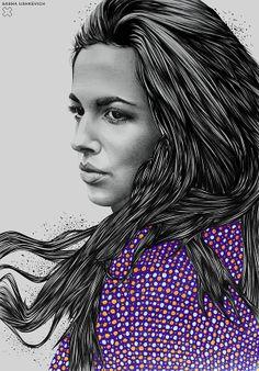 Nu Portraits by Sasha Ushkevich. Minsk, Belarus – based artist Sasha Ushkevich uses paper, pencil and eraser to create unique captivating portraits.  #SashaUshkevich | #Photography | #Design | #Art |