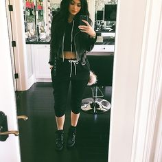 """Kylizzle on Instagram: """"Where did da sun go ?"""" ❤ liked on Polyvore featuring kylie jenner"""