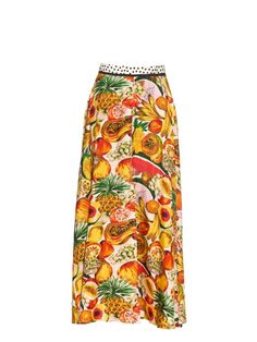 Easton Pearson Take Away nods to classic Caribbean dress with this Introduce Me silk-twill skirt. It's printed with a tropical Tutti Frutti pattern and has a full length that's slit from the hem to just above the knee. Complete the look with the matching off-the-shoulder top.