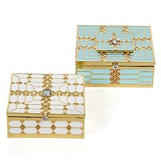 Stylishly store your jewels in Z Gallerie Patricia and Gloria Boxes. $24.95 - $26.95