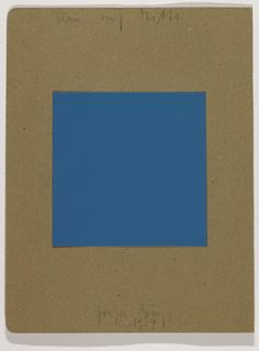 Joseph Beuys 'Blue on Centre', 1984 © DACS, 2016
