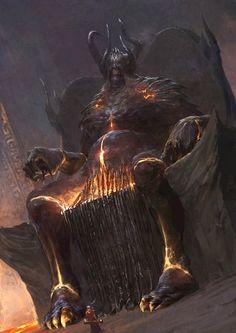 Xiaodi_Jin. Artwork, Greatness/Grandeur, Intimidation, Majestic, Darkness. - Excellent representation of Abaddon in the Underworld