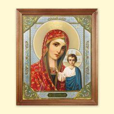 SHOP-PARADISE.COM:  Ikone Kasanskaja, 24x20 cm, Holzumrahmung, unter Glas 12,99 €