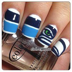 Seattle Seahawks by elaineqxoxo #nail #nails #nailart
