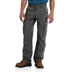 These CARHARTT men's cargo pants are fully loaded to keep you comfortable at work.