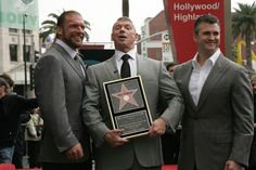 Vince McMahon Honored At The Hollywood Walk Of Fame With Triple H & Shane McMahon