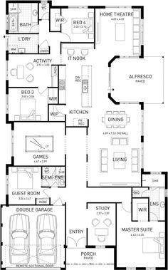 Australis, Single Storey Home Design Master Floor Plan, WA