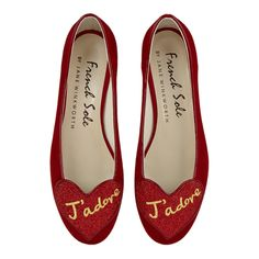 Red Suede - Flat Shoes | French Sole