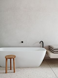 pinned by barefootstyling.com Minimalistic bathtub | Vogue Living