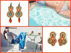 Nothing says island wear like our Caesarea collection with its easygoing style and a luxe, worldly feel. From July 1 - 7 enjoy 10% off on the entire Caesarea collection! #DoriCsengeri #resort #Cruise #accessories #fashion #wear #coral #turquoise #earrings