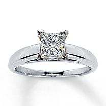 1 carat  solitaire diamond ring princess cut-this is it, just 1 1/2 carat is what Mine will be