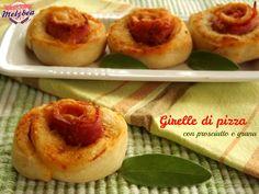 Le Girelle di pizza con prosciutto e grana sono uno sfiziosissimo snack salato, ideale per i vostri aperitivi o per le feste dei bambini