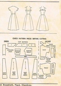 1950s Vintage Misses Sun Dress & Jacket McCalls 3191 Sewing Pattern Size 12