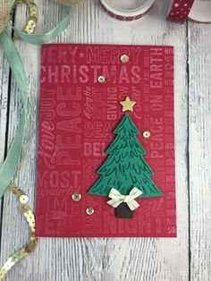 Merry Medley ft Peaceful Pines - Sneak Peek from Stampin' Up!'s upcoming Holiday…