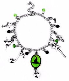 8639de6ab6d Wicked Musical Inspired Friendship Bangle Set   Geek   Bangle bracelets  with charms, Wicked musical, Bangles