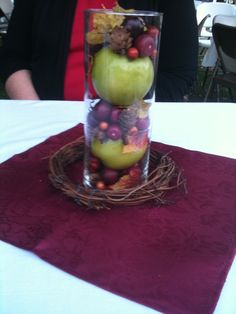 Another shot of the Fall in Love centerpieces