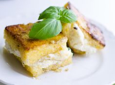 Sweet Roots {Infusions of Herbal Living}: Vegan Grilled Cheese and Basil Polenta Sandwiches + Homemade Coconut Mozzarella