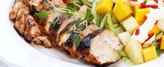 DAGENS RETT: Kyllingfilet med melon- og mangosalat - Aperitif.no Frisk, Cobb Salad, Meal Planning, Pork, Meals, Dinner, Healthy, Journal, Kale Stir Fry