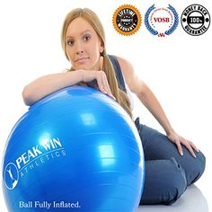 Antiburst Exercise and Stability Ball with Pump Training Guide and Scroll Down for Details in the Description ** ** AMAZON BEST BUY **