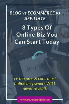 Blog vs Store Vs Affiliate. If you find yourself struggling to choose the right online business model for you, then you're going to find this in-depth resource full or pros and cons and further reading super helpful.