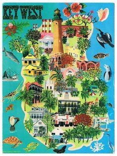 key west florida map city