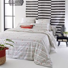 Meknes Cotton Percale Duvet Cover