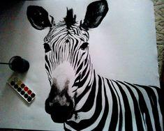 Zebra - my watercolor painting