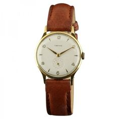 Pre-owned Cartier 1631 European Watch and Company Automatic Yellow... (16,605 CNY) ❤ liked on Polyvore featuring jewelry, watches, white wrist watch, brown watches, preowned watches, gold watches and cartier jewelry