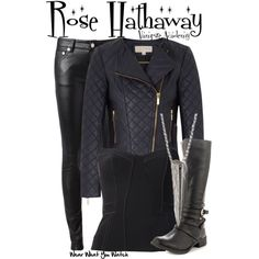 Inspired by Zoey Deutch as Rose Hathaway in 2014's Vampire Academy: Blood Sisters.