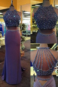 Long Prom Dresses,2 pieces Prom Gowns,Sexy Prom Women