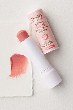 Babo Botanicals Lip Tint Conditioner SPF 15 by in Pink Size: All, Makeup at Anthropologie - Make up & Haare - Beauty Lip Gloss Colors, Lip Colors, Lipstick Colors, Cute Makeup, Beauty Makeup, Lip Makeup, Makeup Brushes, Chanel Makeup, Gold Makeup