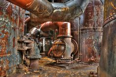 The former Carrie Furnace site, abandoned in and now a National Historic Landmark. Steampunk Robots, Abandoned Places, More Photos, Decay, Carry On, Carrie, Photography, Color, Facebook